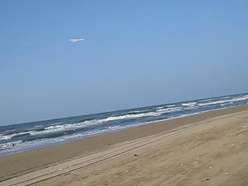 海岸でのフライト