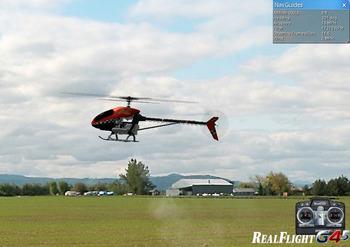 RealFlight G4でヘリコプターの練習